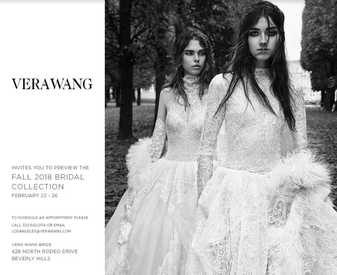 530c2c2bdcd Vera Wang on Rodeo Drive is having a trunk show to reveal their Fall 2018  collection where you can see all the fabulous runway samples and receive a  10% ...